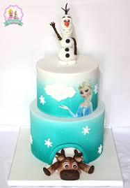 gateau reine des neiges gateau olaf frozen fondant cake l