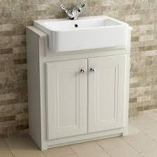 clotted cream bathroom vanity unit basin furniture storage cabinet