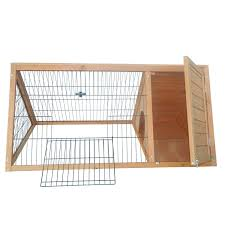 A Frame House Cost Amazon Com Pawhut Outdoor Triangular Wooden Bunny Rabbit Hutch