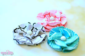fabric flowers craft easy fabric flower tutorial bradford