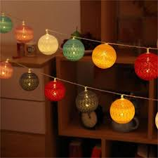 style cotton led 2 aa battery powered garland string lights