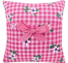 pink ribbon fabric tooth fairy pillow pink flower check print fabric pink ribbon