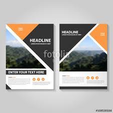 cover layout com orange black vector business proposal leaflet brochure flyer