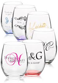 personalized glasses wedding custom stemless wine glasses personalized wine glasses
