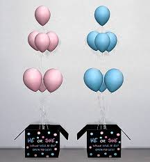 gender reveal balloons in a box ts3 ts4 gender reveal box yourdorkbrains