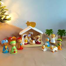 wooden nativity set wooden nativity by the blue owl notonthehighstreet