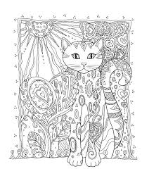 color pages for adults cat coloring pages for adults