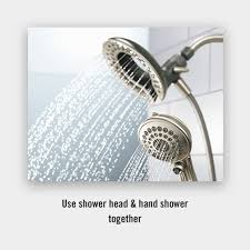 Faucet Shower Head Combination Shower Head And Hand Shower In2ition Two In One