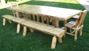 Log Dining Room Tables Timber Creek Furniture Dining Room Rustic Handcrafted Log Furniture