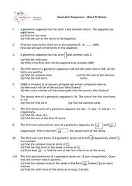 a level maths geometric sequences worksheet by phildb teaching