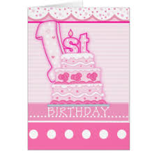 first birthday greeting cards zazzle