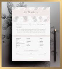 creative resume template editable in ms word and pages by cvdesign