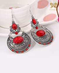 beautiful ear rings beautiful classic style broad metal drop earrings mairra