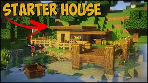 Build A Small House by Minecraft Starter House Tutorial How To Build A Small House In