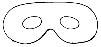 eye mask template pattern cut out mask pattern