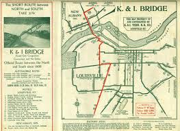 Louisville Zip Code Map by K U0026 I Terminal Railroad Bridge Brochure Map Ohio River Louisville