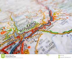 Bolzano Italy Map by Bolzano City Over A Road Map Italy Stock Photo Image 82437196