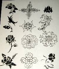 Flower Designs On Paper Paper Henna Tattoo Stencils Henna Body Art