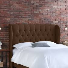 Velvet King Headboard Buy Tufted Wingback Velvet Headboard Color Chocolate Size King