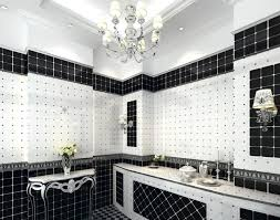 simple black and white bathroom tile for backsplash usage eva