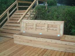 Wooden Bench Seat Designs by Deck Bench With Storage Storage Benches Slammed And Decking