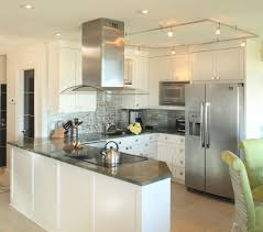 Kitchen Peninsula Lighting Free Standing Range Kitchen With Ceiling Lighting About