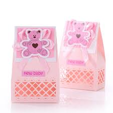 baptism favor aliexpress buy pink and blue baby favors boxes baptism