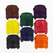 Retro Camper Set Of Eight Retro Camper Van Crayons By Colour Me Fun