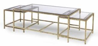 Nesting Coffee Tables Johanni Gold And Glass Top Nesting Coffee Tables Mecox Gardens