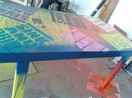 custom beer pong tables painted beer pong tables coho