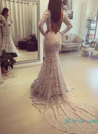 backless lace wedding dresses h1609 simple lace mermaid wedding dress with open back