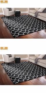 ebay area rugs household items 7 5 x 9 5 indoor black white area rug mat carpet
