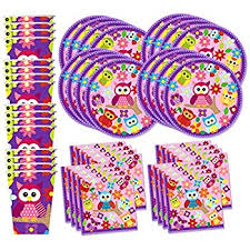 owl birthday party patchwork owl birthday party supplies set plates