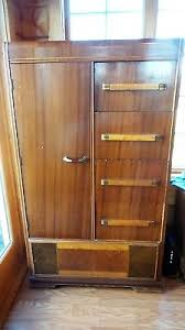 Cedar Wardrobe Armoire 1900 1950 Armoires U0026 Wardrobes Furniture Antiques Picclick
