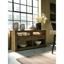solid wood reclaimed pine dining room server by signature design