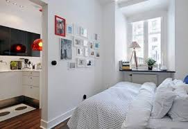 small scandinavian apartment living space small bedroom interior