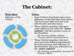 The Presidential Cabinet Unit 5 The Executive Branch Ppt Online Download