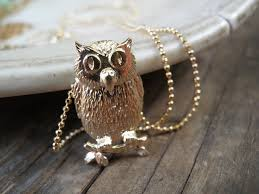 halloween jewelry owl necklace owl jewelry necklace halloween by annalisjewelry