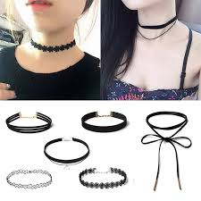 tattoo necklace jewelry images 6pcs set sexy gothic punk velvet tattoo lace choker collar pendant jpg