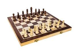 1 toys high quality 15 inch classic folding wooden chess set