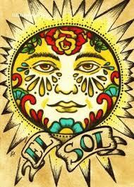 mexican folk art prints sun moon loteria el sol u0026 la luna 5 x 7 8