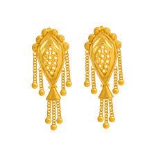 png gold earrings 22kt gold earring gold earrings online for women p c chandra