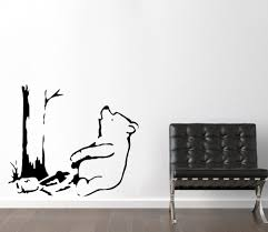 banksy stencils winnie the pooh bear pooh bear trapped