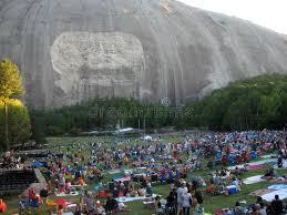 stone mountain laser light show stone mountain georgia crowds gather editorial image image of