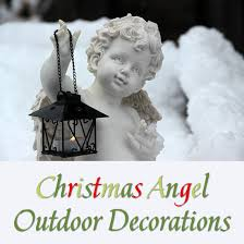 lighted christmas yard angels charming christmas angels outdoor decorations