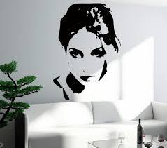 popular teen wall murals buy cheap teen wall murals lots from plus size removable vinyl wall sticker sexy girl woman teen lady cool pop beauty art bedroom