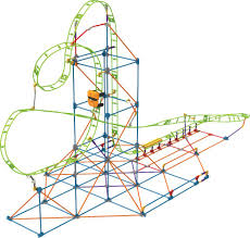 High Chair Rocking Horse Desk Plans K U0027nex Infinite Journey Roller Coaster Building Set 347 Pieces
