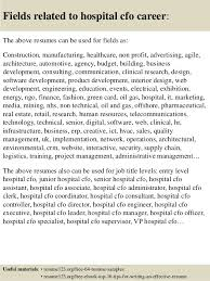 Hospital Resume Sample by Top 8 Hospital Cfo Resume Samples