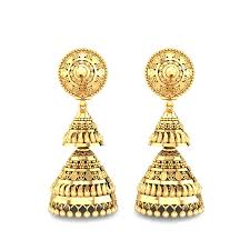 ear ring image yellow gold 22k verity gold earring candere