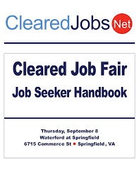 Pbuse Help Desk Cleared Job Fair Job Seeker Handbook Sept 8 2011 Springfield Va